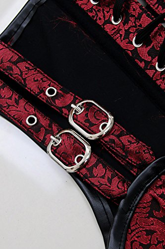 Charmian Women's Gothic Steampunk Brocade Steel Boned Waist Cincher Corset Vest 4