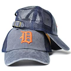 Detroit Tigers MLB American Needle Raglan Bones Soft Mesh Back Slouch Twill Cap Navy by American Needle