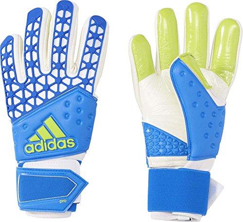 Adidas Ace Zones Pro Guanti Unisex, Blu/Bianco (Ah7804-Azuimp/Bianco/Seliso), 9.5