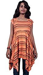 Miraaya Women's Tunic (M2429B_74656_Orange_XX-Large)