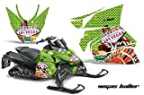 2012+ Arctic Cat ProCross Sno Pro AMRRACING Sled Graphics Decal Kit - Vegas Baller - Green