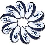 Mizuno Golf Iron head Covers 10pcs/set white & blue MT/Mz02