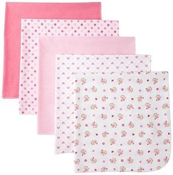 Bon+Bebe BON BEBE Baby-Girls Newborn Assorted 5 Pack Receiving Blankets For Girls