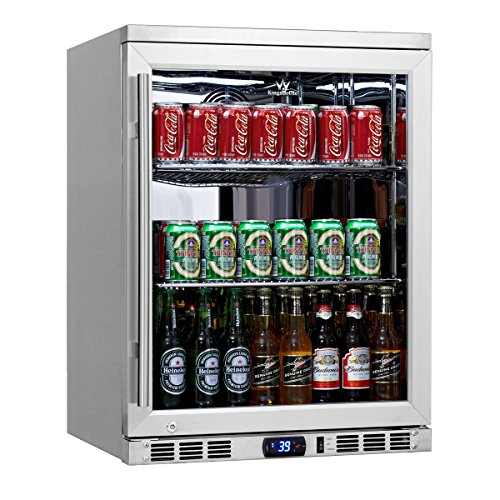 KingsBottle 140 Can 1-Door Under Counter Beverage Cooler, Heating Glass (Mini Fridge Glass Front Door compare prices)