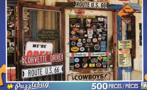 Route 66 Memorabilia - Puzzlebug - 500 Pc Jigsaw Puzzle - NEW