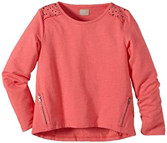 Name It Fobia - Sweat-shirt - Fille - Rouge (Calypso Coral) - FR: 8 ans (Taille fabricant: 122/128)