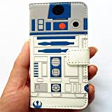 【並行輸入品】R2D2 Robot Pattern Slim Wallet Card Flip Stand Leather Pouch Case Cover For Apple iphone 5 iphone 5S