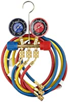 """SPX Industrial 40174 Two Way Brass Manifold with 60"""" RYB Hoses, For R22/404A/410A Refrigerant by SPX Industrial"""
