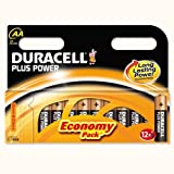 Duracell AADURB12C - Plus Battery AA MN1500 Pk12