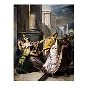 Julius Caesar on His Way to the Senate on the Ides of March Stretched Canvas Poster Print