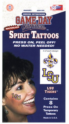 LSU Tigers Tattoo Waterless