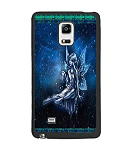 PrintDhaba Angel D-2492 Back Case Cover for SAMSUNG GALAXY NOTE 4 (Multi-Coloured)
