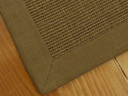 """Nottingham"" Sisal Natural Fiber Rug (Boucle Design) 5' x 8' - Wide Cotton Binding, Non-Slip Latex Backing"