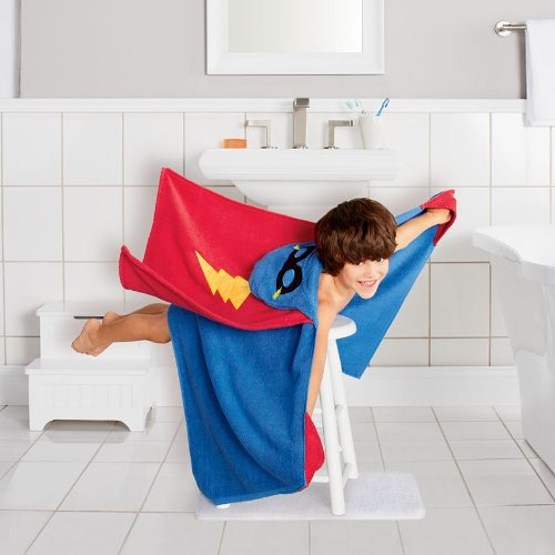Hot Jumping Beans Superhero Bath Wrap Interdesign