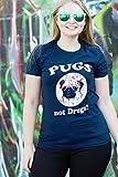 Pugs Not Drugs T Shirt Funny Dog Shirts For Women M