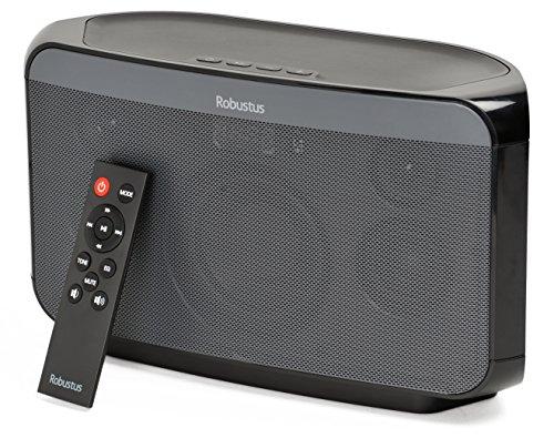 Robustus - senza fili Bluetooth casa e l'ufficio 2.1 canali Altoparlanti - suono profondo ricco di qualità, potente 40W uscita, collegati alla rete elettrica e remoto controllabili - 6 dell'equalizzatore (EQ) impostazioni predefinite per il suono perfetto - si connette senza fili a dispositivi intelligenti, 3.5mm cavo audio, flash USB guidare o MicroSD card