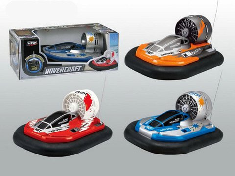 ChannelGoods Radio Controlled Water Use Hovercraft RC Remote Hover Blue or Orange