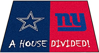 Fan Mats Cow-Giants House Divided Mat