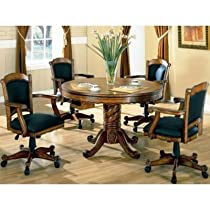 Hot Sale Game Table Solid Oak 3- In-1 With Four Chairs