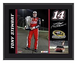 Tony Stewart Sublimated 10x13 Plaque | Details: 2011 Sprint Cup Series Champion