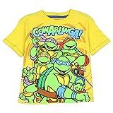 "Nickelodeon Toddler Little Boys Ninja Turtles ""Cowabunga"" T-Shirt (Yellow)"