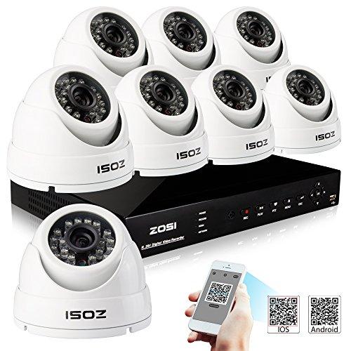 ZOSI 900TVL Outdoor Surveillance CCTV System 8CH Standalone