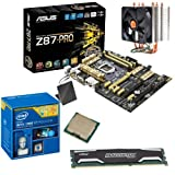 INTEL Core i7 4770K OC 4.2Ghz, ASUS Z87-PRO, 4GB 1600Mhz DDR3 Crucial Ballistix Sport Memory & ThermalTake Contac21 Cooler OVERCLOCKED Bundle