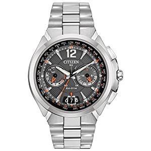 Citizen Men's CC1090-61E Satellite Wave Analog Display Japanese Quartz Silver Watch