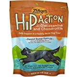Zukes Hip Action Dog Treats - Peanut Butter Formula - Case of 12 - 6 oz - HSG-875377