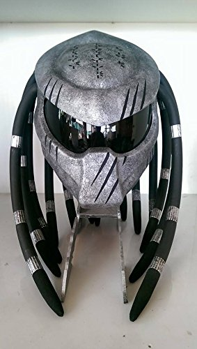 Gray Predators style safety helmet motorcycle adult hight quality handmade.