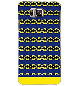 PrintDhaba Bat Pattern D-1545 Back Case Cover for SAMSUNG GALAXY ALPHA (Multi-Coloured)