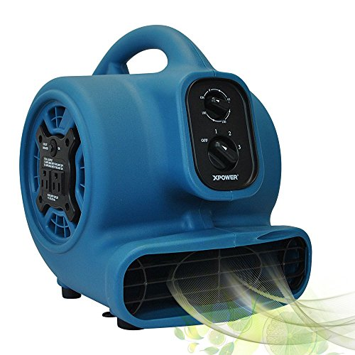 XPOWER P-250AT 1/5 HP Freshen Aire Scented Air Mover with Daisy Chain & Timer