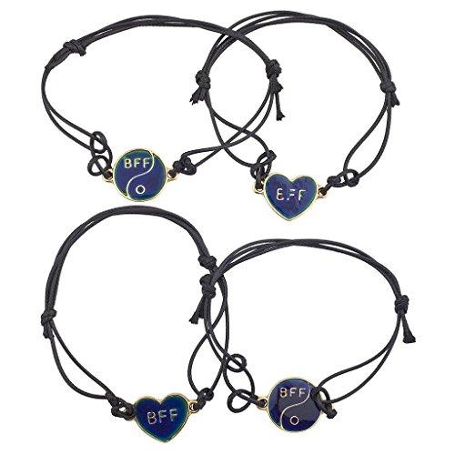 lux-accessori-oro-migliori-amici-bff-mood-gioielli-braccialetto-di-corda-set-4-pezzi
