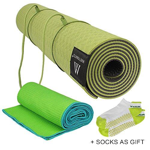 Matymats Yoga Kit Non Slip Yoga Mat Tpe Thick 1 4 72