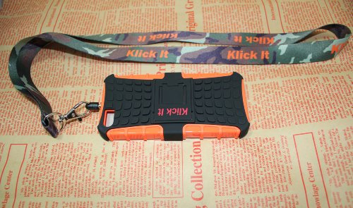 Great Price I Phone Case From Klickit for I Phone5,5s with Lanyard and Wrist Strap (orange)