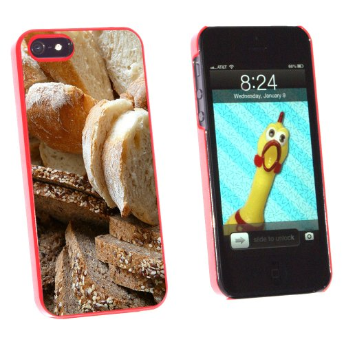 Bread - Loaf Rye Italian French - Snap On Hard Protective Case for Apple iPhone 5 5S - Red