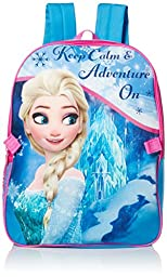 Disney Little Girls Frozen Backpack with Lunch Kit, Blue, One Size