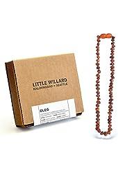 Little Willard Baltic Amber Teething Necklace (Cognac Raw)