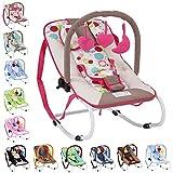 Infantastic - Hamaca para bebés con cinturón de seguridad y 3 puntos de fijación - modelo bayas
