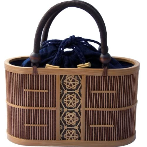 Shizuoka Bamboo Crafts Cooperative - Bamboo Handbag Aoi (Malva) - Made in Japan: Amazon.com: Clothing