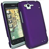 Glossy Hybrid Rubberized - Hard Mobile Phone Case Cover For HTC Rhyme G20 S510B / Purple