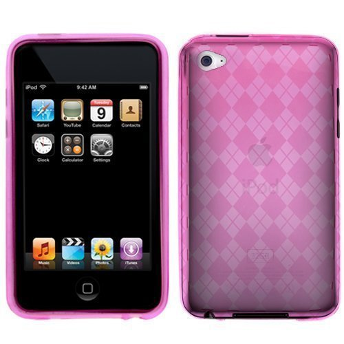 Pink Thin Protective Case for New Ipod Touch 4th Generation with Camera