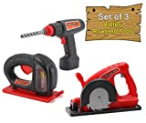 Click N Play Pretend Play Power Tool Combo Toy Set Includes Real Working Toy Drill, Jigsaw and Circular Saw