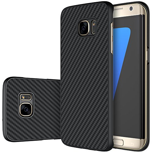 Galaxy S7 Edge Case, Nillkin Synthetic Fiber Premium Bumper Case Back Cover for Samsung Galaxy S7 Edge - Black (Nillkin Bumper compare prices)