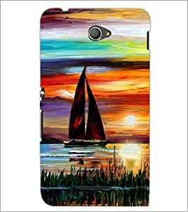 PrintDhaba Painting D-4892 Back Case Cover for SONY XPERIA E4 (Multi-Coloured)