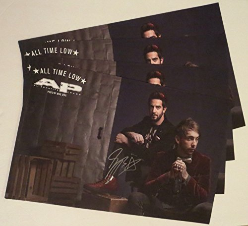 All Time Low Alex and Jack REAL hand SIGNED 11x17 Alt Press poster + Magazine (Alt Press Magazine compare prices)