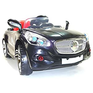 12v Battery Powered Electric Ride On Sports Car In Black- Ages 2+ Years