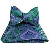 Green Purple Pink - XL Self Tie Bow Tie Hanky