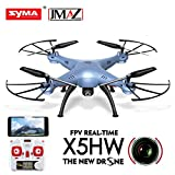 JMAZ Syma X5HW FPV RC Quadcopter Drone HD WIFI FPV Camera Take Picture Record Video Hover Function Blue with a Free Gift Flying Toy