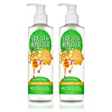 Fresh Monster Toxin-free Hypoallergenic 2-in-1 Kids Shampoo & Conditioner, Fragrance Free, 2 Count